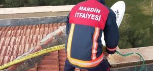 Mardin'de itfaiye ilçeyi temizledi