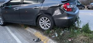 Zincirleme kazada şans eseri yaralanan olmadı