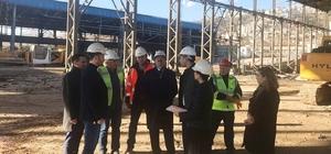 Genel Sekreter Bayram, yapımı devam eden kongre merkezini inceledi