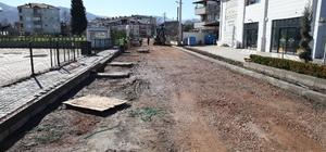 Başiskle'de sahile açılan sokak ve caddelerde çalışmalar devam ediyor