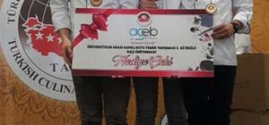 BEÜ'nün lezzet ustaları Türkiye üçüncüsü oldu