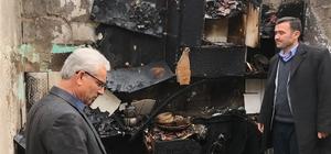 lektrik kontağı imamın evini yaktı