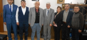 Kefalet Kooperatifi'nden Tuhafiyeciler Odası Başkanı Sefa Şen'e 'Hayırlı Olsun' ziyareti