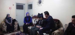 Başkan Doğan'dan, ağaç budarken vefat eden belediyesi işçisi Ercan'ın ailesine ziyaret