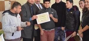Turgutlu'nun +1 Kafe çalışanlarına onur belgesi