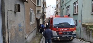 Biga'da bir evde yangın çıktı
