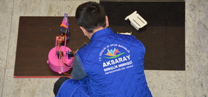 Aksaraylı gençler, robotlarıyla Türkiye'yi temsil edecek