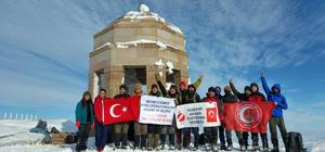 Zeytin Dalı Harekatı'na destek için Kösedağ'ın zirvesine tırmandılar