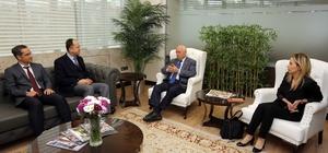 Başkan Yaşar, İlçe Milli Eğitim Müdürlüğüne atanan Kırbaç ile bir araya geldi