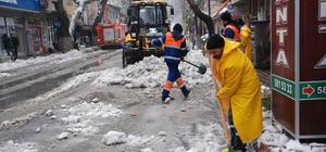 Büyükşehir kar timleri görev başında