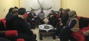 Başkan Özgüven'den çat kapı ziyaretler