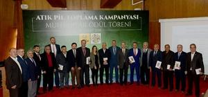 Konya'da en çok atık pil toplayan muhtarlar ödüllendirildi