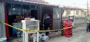 Konya'da av tüfeğiyle market soygunu