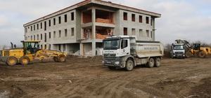Bafra İşletme Fakültesi inşaatında çalışmalar hızla devam ediyor