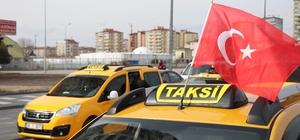 Taksicilerden Mehmetçik'e destek