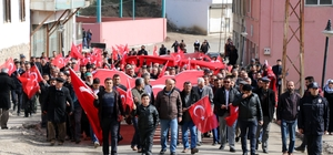 Binlerce vatandaş Afrin Operasyonuna destek için yürüdü