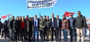 Ayvalık'ta CHP'li gençlerden Afrin Şehitleri için lokma hayrı