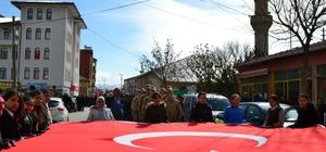 Altınyayla'da Zeytin Dalı Harekatı'na destek yürüyüşü