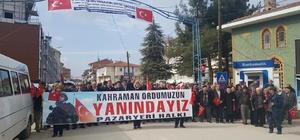Pazaryeri halkından Afrin'e destek yürüyüşü