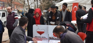 Kahta'da kan ve kök hücre bağışı kampanyasına yoğun ilgi