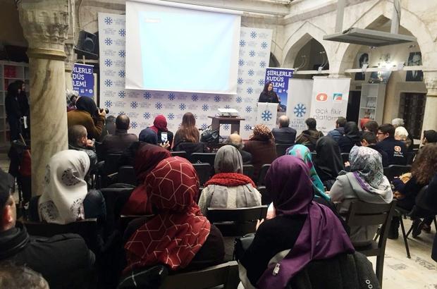 Öğrenciler şiirlerle Kudüs'ü anlattı