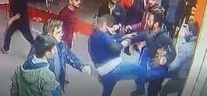 İş yerindeki kavga güvenlik kamerasına yansıdı