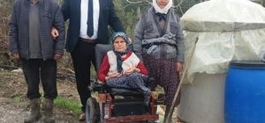 Büyükşehir engelli kadın için yolları düzeltti