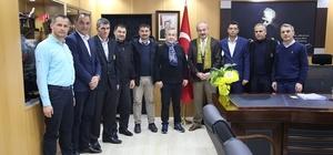 Tekirdağspor Yönetim Emniyet Müdürü Aydın ile bir araya geldi