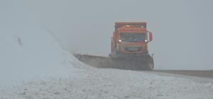 Tendürek Geçidi'nde kar yağışı nedeniyle ulaşımda aksamalar yaşanıyor