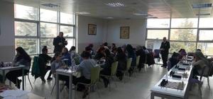 Kadınlar satranç İl birinciliği yarışması yapıldı