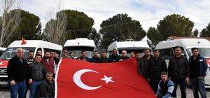 Muğla'da 137 servis aracıyla destek konvoyu
