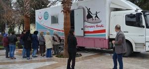 Milas'ta ücretsiz mamografi çekimlere yoğun ilgi