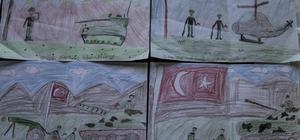 Çocuklardan Afrin'deki Mehmetçik'e moral resmi
