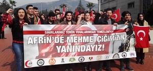 DÜ'lü gençler Afrin'de Mehmetçiğin yanında