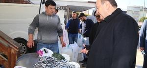 Başkan Özakcan balıkçı esnafıyla bir araya geldi