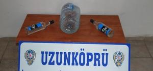 Edirne'de kaçak içki operasyonu