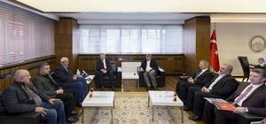 KAYMOS VE Mimarlar Odası yönetimleri Başkan Çelik'i ziyaret etti
