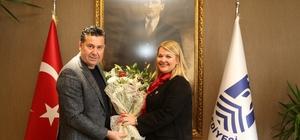 CHP Bodrum Kadın Kollarının yeni yönetimi Başkan Kocadon'u ziyaret etti