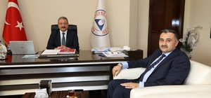 Başkan Cabbar ERÜ Rektörü Muhammet Güven'i ziyaret etti
