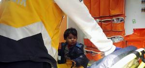 Kayıp çocuk çatıda bulundu