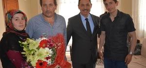 Başkan Uysal, Gazi Serkan Arık'ı ziyaret etti