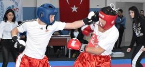 Kick Boks İl Birinciliği için mücadele ettiler