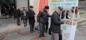 Edirne'de Afrin şehitleri için helva dağıtıldı
