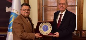 Başkan Yağcı'ya Türk Tarih Kurumu Başkanı Turan'dan ziyaret