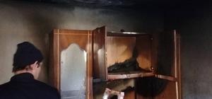 İtfaiye çalışanı, evindeki yangına koştu