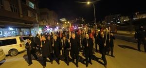 Bayburt'ta kurtuluşun 100. yılı için fener alayı yürüyüşü gerçekleştirildi