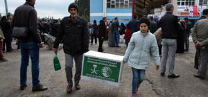 Suriyeli sığınmacılara yardım