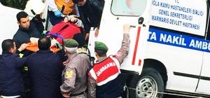 Hasta nakil aracı kaza yaptı
