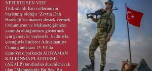 Mehmetçiğe Destek mitingi düzenlenecek