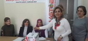MASTÖB Malatya Kadın Kolları Başkanlığına Saadet Alay seçildi